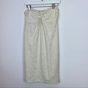 Hollister Cream Heather Strapless Halter Dress L